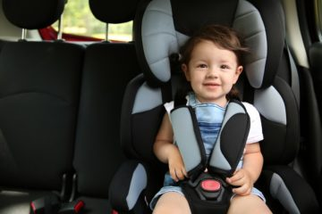 A child in a car seat in Roanoke, Virginia.