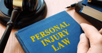 A law book on the desk of a Christiansburg personal injury lawyer.